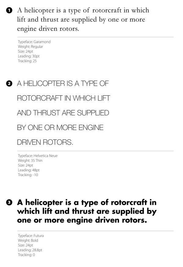 typeface exmaple