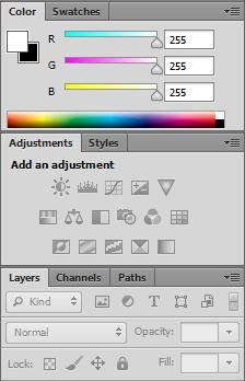 Photohop panels (panes)